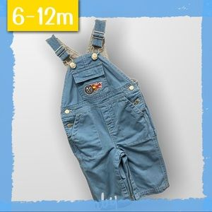 Gymboree 6-12mth Lined Overalls - Car Mechanic